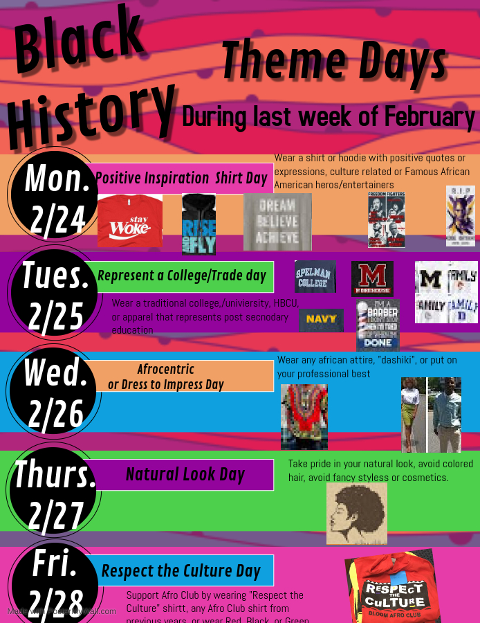 Black History Theme Dress Days